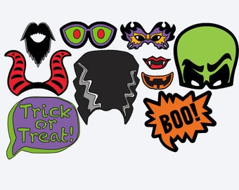 Halloween Photo Booth Props - Halloween Photo Props - Photo Booth Props - Halloween Party - Halloween - Halloween Picture Props