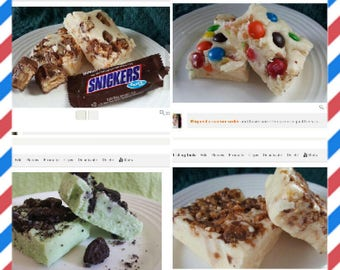 FUDGE Of The MONTH CLUB! 3 Month Subscription, Gourmet Candy Fudge, fresh fudge, Every month, gift ready, Over 50 flavors to choose from!