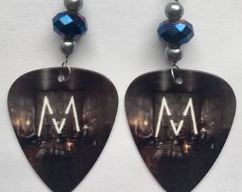 Maroon 5- Guitar Pick Earrings