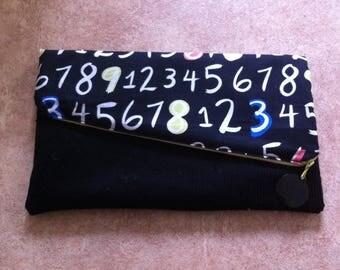 Clutch evening bag diagonal 2 in 1 black
