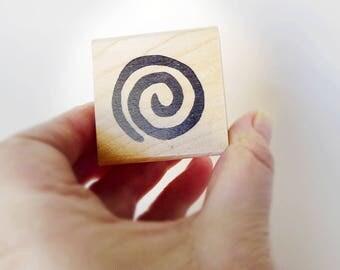 Swirl Rubber Stamp, Curlie Cue Shape, Curlycue Craft Shape, Aboriginal Decor, Rubber Stamp, Petroglyph Swirl, Scrapbook Swirl, Card Making