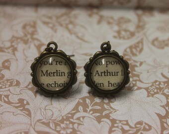 Arthur ~ Merlin Earrings ~ Knights Of The Round Table ~ Camelot ~ King Arthur ~