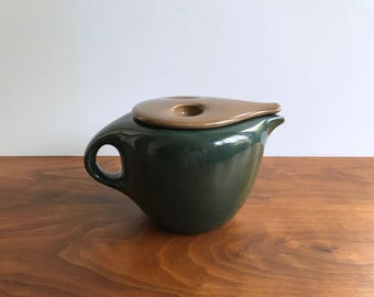 Iroquois Casual China Coffee Pot in Parsley and Nutmeg by Russel Wright