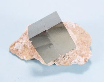 Natural Pyrite Cube on Matrix 43 grams #110 - SPAIN