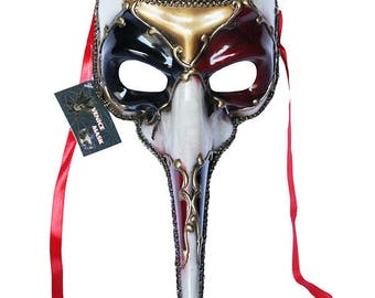 Red Venetian Long Nose Mask Masquerade Ball Prom Party Mardi Gras Halloween Costumes Wedding Decoration 11E1A, SKU 7K22