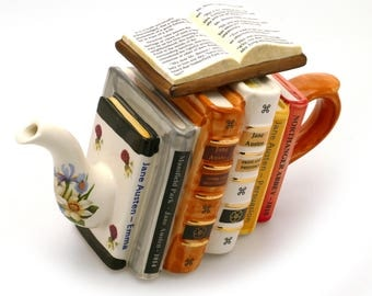Jane Austen Books Teapot