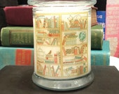Chapters and Charms / A Bookish Treasure Candle / Trinket Candle / Earl Grey Candle / Old Book Smell Candle / Book Decor / Crystal Candle