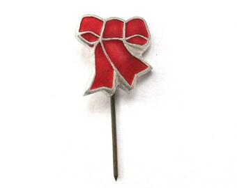 SALE, Red bow, Soviet badge, Red flag, Lenin, October Revolution, Vintage collectible badge, Soviet Vintage Pin, USSR, 1970s