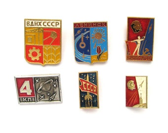 Space, Pick from set, Vintage metal collectible badge, Cosmonautics, Lenin,  Soviet Vintage Pin, Vintage Badge, Made in USSR