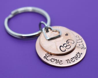 Anniversary Gift for Men - Valentines Gift - Anniversary Gift - Couples Keychain - Personalized Keychain - Penny Keychain - Wedding Gift - G