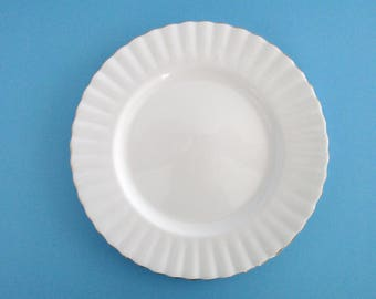 Set of 12, Royal Albert England White ValD'or Bone China Salad Plates