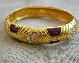 Joan Rivers crystal bracelet