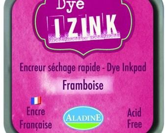 Izink Dye - Burgundy ink drying raspberry