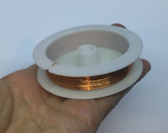 1 Roll 20M Beading Wire Rose Gold 0.3mm Dia. 28 gauge - CB076