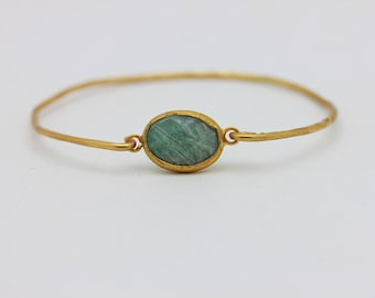 Perfect hand made our product mazonite stone silver for lady gold  plated bracelet
