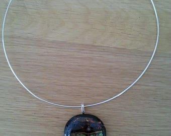 """""""Heavenly light"""" glass pendant"""