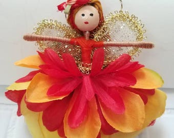 Fairy Flower/Fairy Ornament/Christmas Ornament