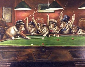Dogs playing poker series by Cassius Marcellus Coolidge - choice of 9 images  -high quality photo print  - available in either A4 or A5 size
