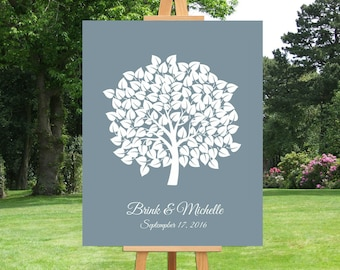 Wedding Sign Tree Guest Book | Family Tree | Anniversary Gift For Couple | Bridal Shower | Baby Shower | Wedding Gift | Alternative - 60677