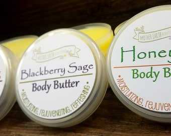 Organic Body Butter - All Natural - Handmade - Skin Care - Beauty Care - Hydrating - Shea Butter - Body Lotion - Body Cream - Moisturizing