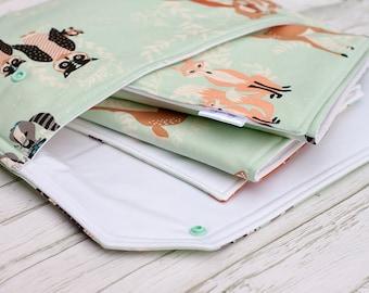 Nappy Wallet, Nappy Clutch, Diaper Wallet, Diaper Clutch, Baby Change Mat, Waterproof Change Mat, Newborn Gift, Baby Shower