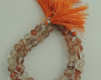 Xmas Sale 1 Strand Orange Routle  Gemstone Briolettes - Orange Routail  Briolette  9mm 8 inches SB396