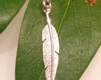 Feather Necklace In Sterling Silver, Feather Pendant and Chain, Feather Charm Necklace, gift for her, Sterling Silver angel Jewellery