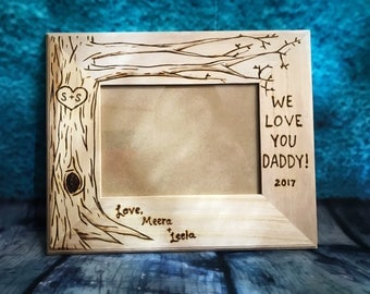 Easter gift for mom woodburned family tree personalized dad fathers day gift dad frame easter gift for dad wood burned negle Gallery