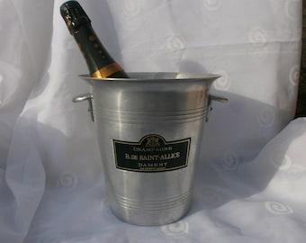 SAINT ALLICE French champagne bucket, wine cooler flower vase, bar restaurant drinks cooler, alcohol, wine, ice bucket