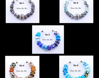 Set of 16 charms  Beads for your  bracelets - 5 different sets available to choose from