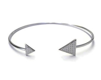 ON SALE Diamond triangle cuff