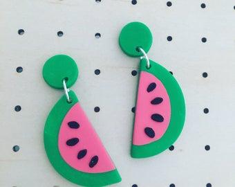 Watermelon Dangle Earrings