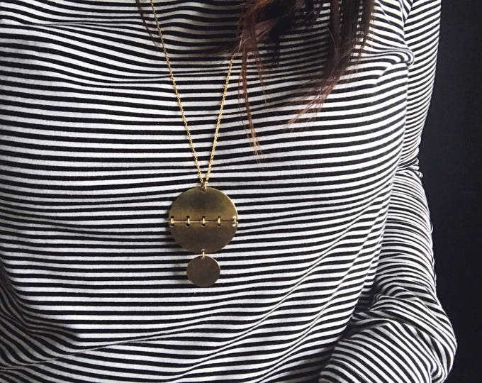 Ready-to-Ship Item // Boho Brass Necklace
