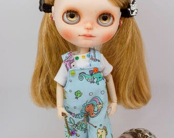 Blythe overalls, blythe overalls and t-shirt set, blythe overalls set, pure neemo overalls, blythe dungarees, pure neemo dungarees