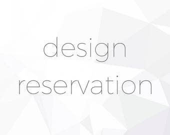 DESIGN RESERVATION- Purchase this listing to secure your time for diamond or gemstone sourcing and custom ring design by Anueva Jewelry