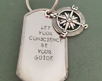 Let Your Conscience Be Your Guide Keychain