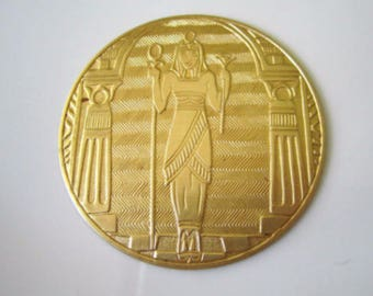 Raw Brass Cleopatra Stamping Brass Cleopatra Findings Brass Stamping Brass Jewelry Supplies 63mm (1 pc) 11V17