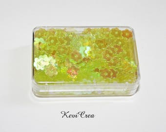 1 x yellow flowers - 8 g - sequins box sewing