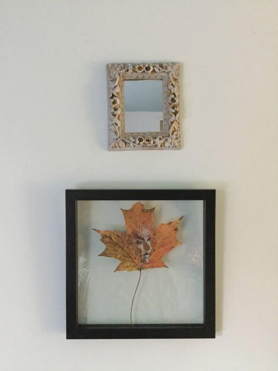 Custom Framing for Leaf Purchase 8 by 8 inch Black or White floating frame