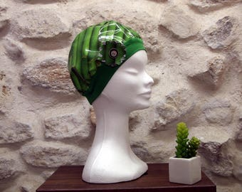 Oilcloth bamboo shower caps