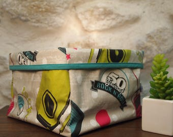 Tidy/cart oilcloth Rock'n roll