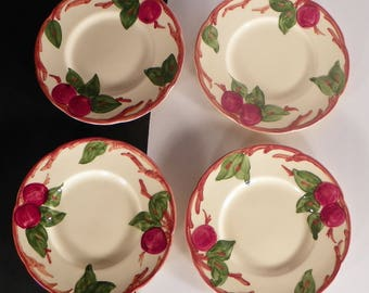 Franciscan Apple Bread and Butter Side Plate (s) LOT OF 4 Made in USA