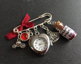 Cinderella Kilt Pin Watch