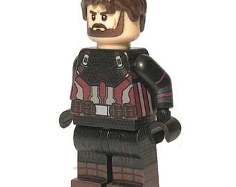 LEGO Custom Printed Avengers: Infinity War Captain America - The Nomad Minifigure Minifig