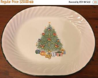 20% Off Sale Vintage Corelle Platter Holiday Magic Christmas Serving Platter