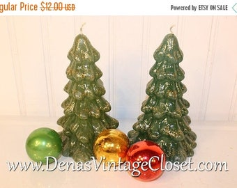 On Sale 25% OFF Vintage 80's Enesco Christmas Tree Candles Christmas Holiday Decoration 2 PCS