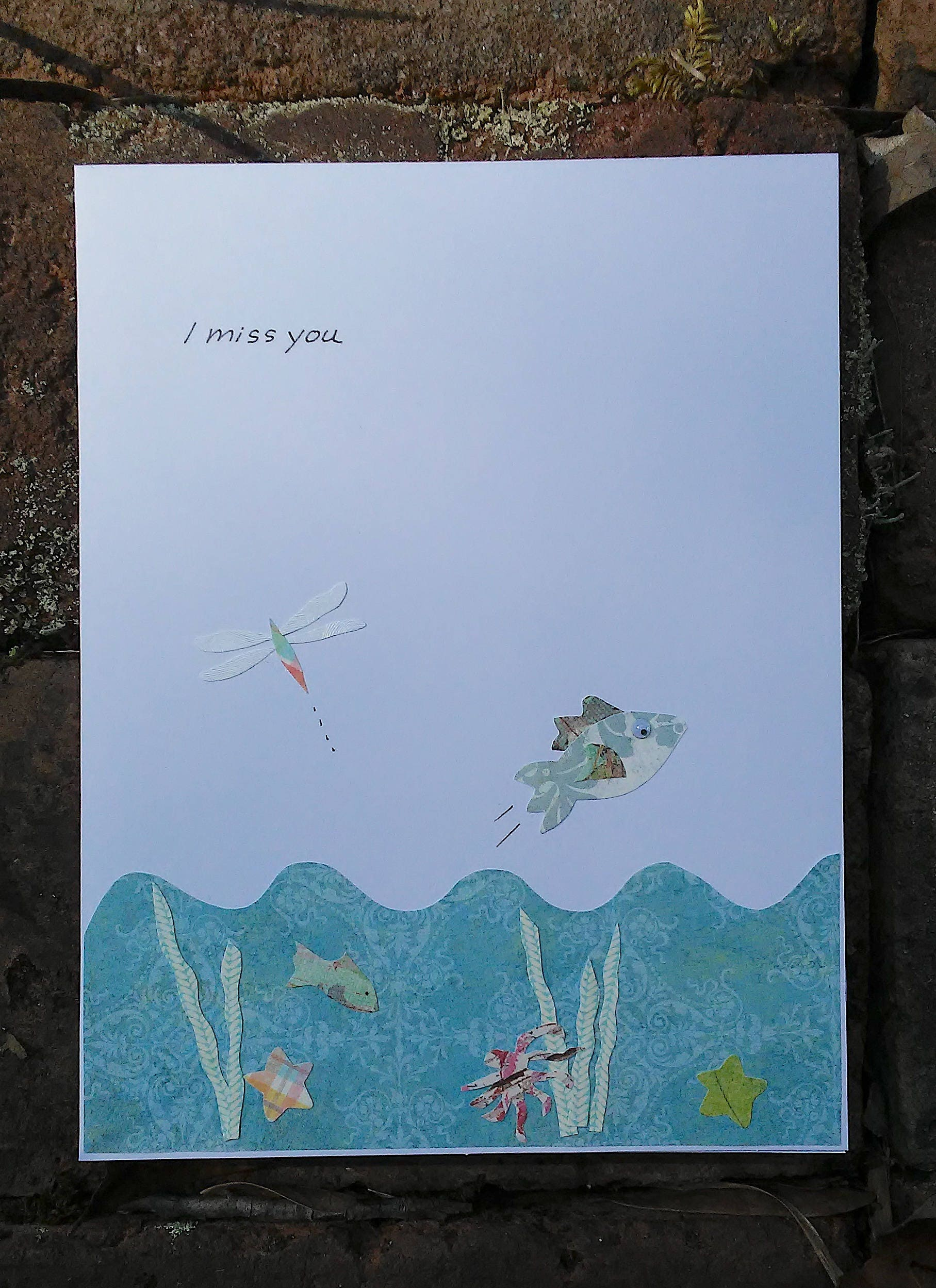 Jumping fish miss you greeting card free shipping jumping fish miss you greeting card free shipping kristyandbryce Image collections