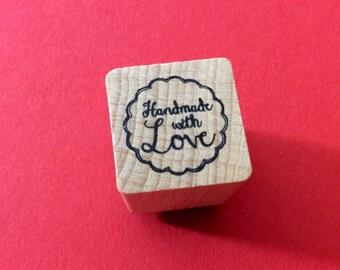 "Tampon 2cm*2cm ""handmade with love"""