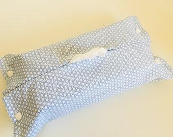 Housse pour boîte de mouchoirs de taille standard, ronds, cercles