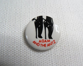 RARE Vintage Early 80s Adam Ant - Adam and the Antz - Whip In My Valise Single (1979) Pin / Button / Badge